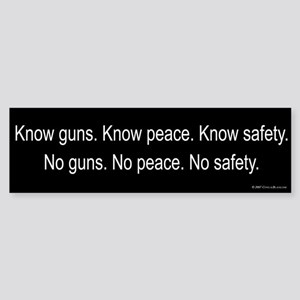 Know Guns Bumper Sticker